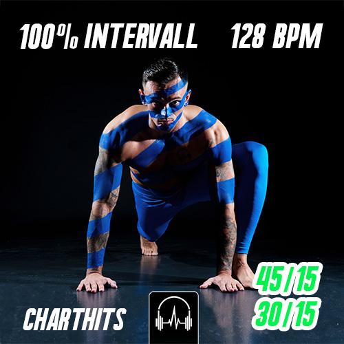 100% Intervall - Charthits #1 (45|15 + 30|15) - 128 BPM
